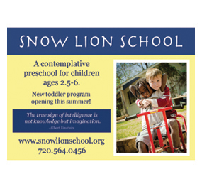 Snow Lion Advertisement