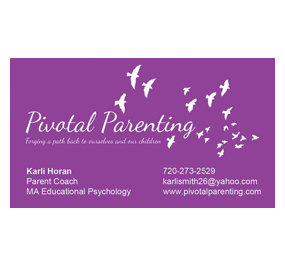 Pivotal Parenting Business Card