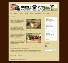 Whole Pets Website