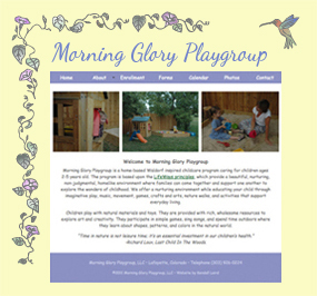 Morning Glory Playgroup Website