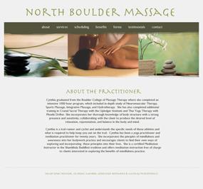 North Boulder Massage Website