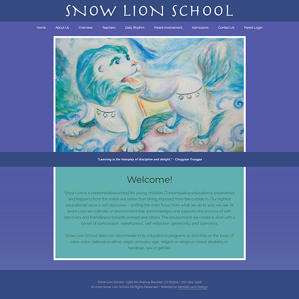 Snow Lion School website