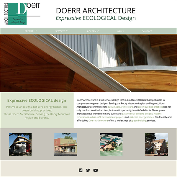 Doerr Architecture website