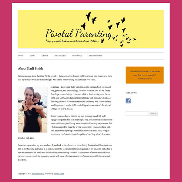 Pivotal Parenting website