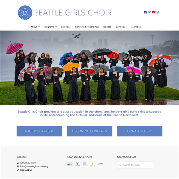 Seattle Girls Choir website